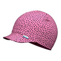 Sun light cotton peaked summer hat for kids #color_dots pink wild orchid