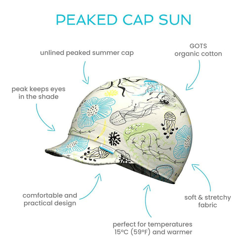 Sun peaked light summer hat for kids protects from sun