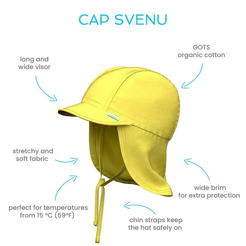 Svenu kids summer hat protects the neck and ears from sun