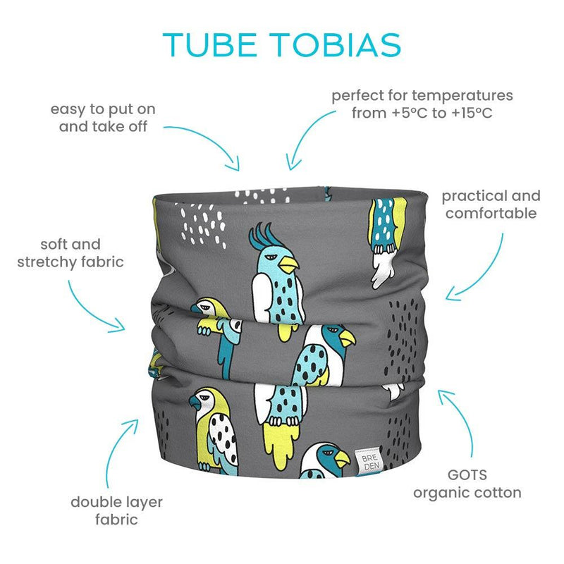 Tube scarf Tobias for kids