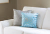 Aqua Dandelion Throw Pillow