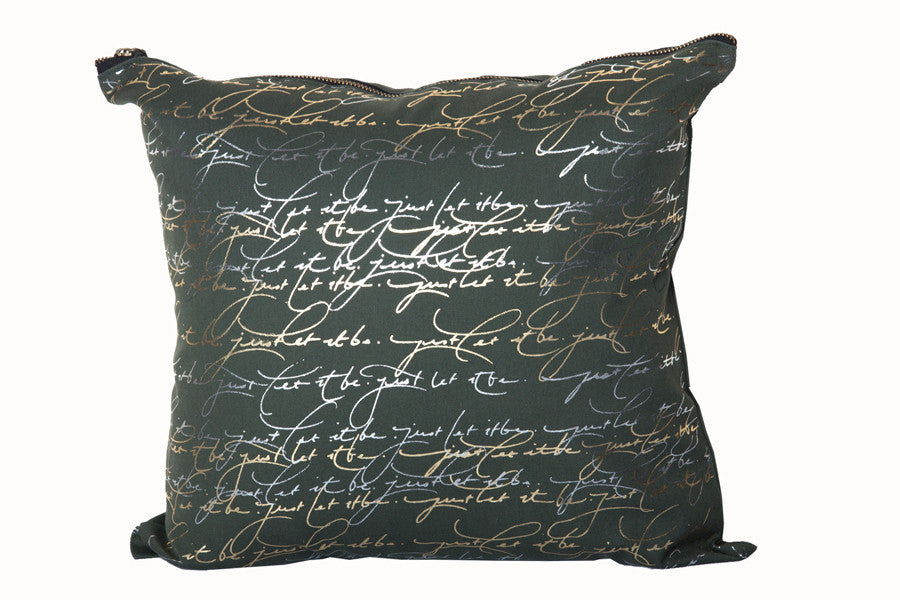 Just Let It Be Throw Pillow