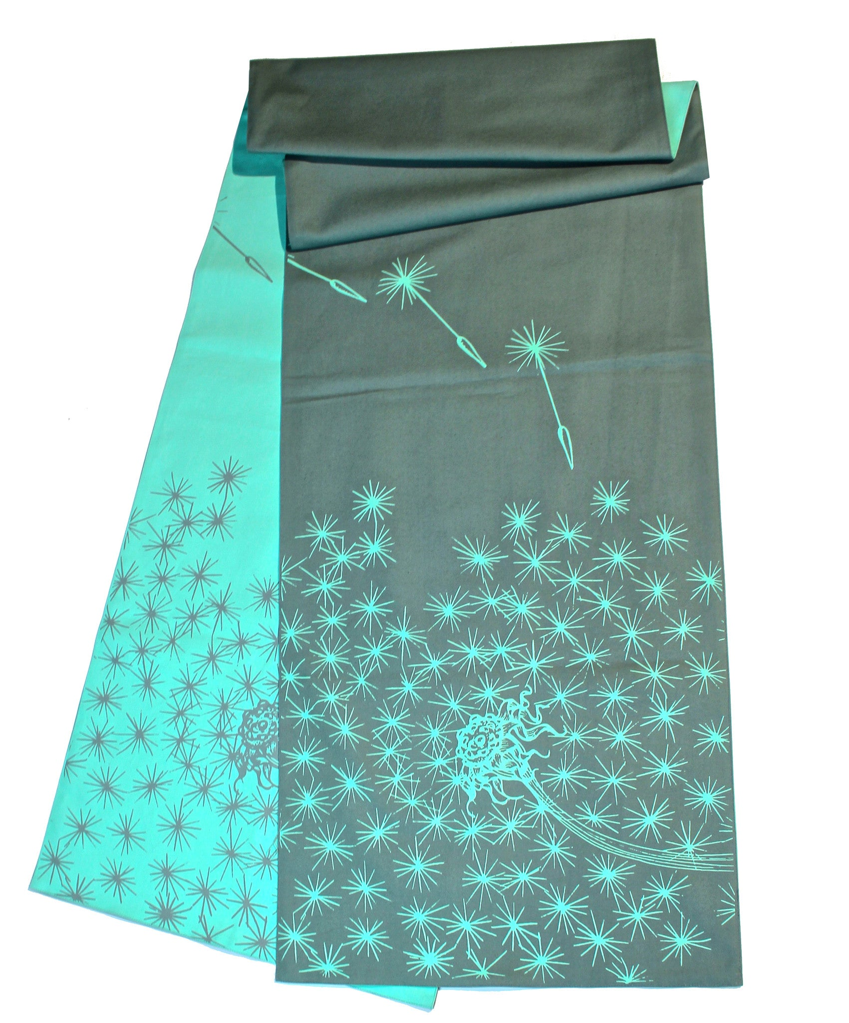 Sea Glass & Fog Reversible Dandelion Table Runner