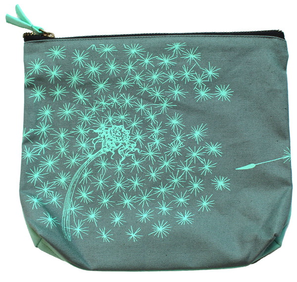 Wish Big Dandelion Zipper Pouch