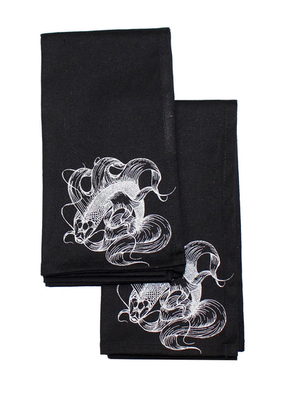 Black Koi Fish Napkins