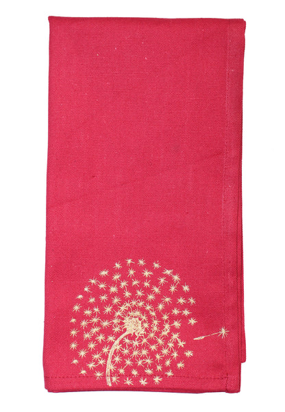 Red Dandelion Napkins