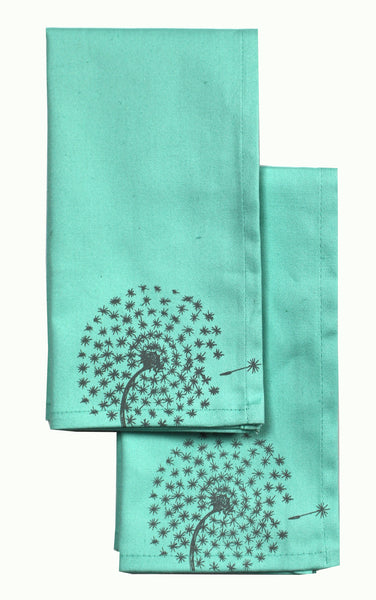 Sea Glass Dandelion Napkins