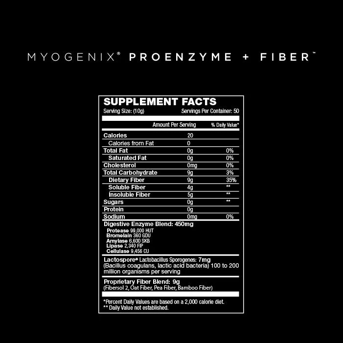 Myogenix Proenzyme+Fiber 500 Grams