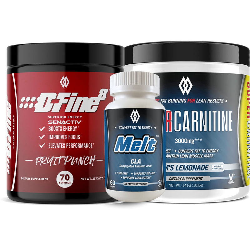 MuscleWerks DFine8, Melt & Super Carnitine Stack