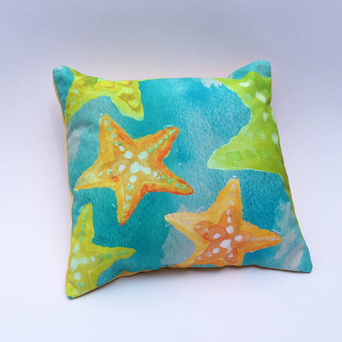 Orange Starfish Pillow Cover