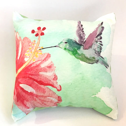 Hummingbird Pillow Cover