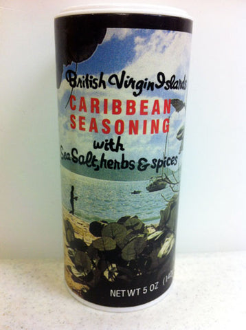 British Virgin Islands Caribbean Seasoning with Sea Salt, Herbs & Spices