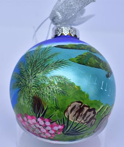 Down Island Glass Ball Ornament - St. John, VI