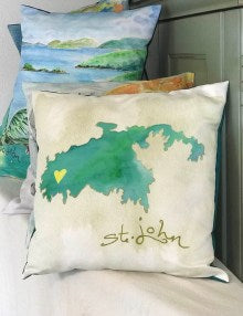St. John Map Pillow Cover
