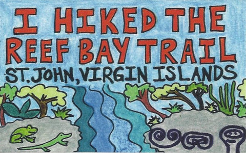 "Bumper Sticker ""I Hiked the Reef Bay Trail"""