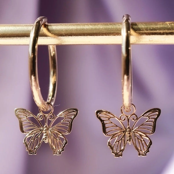 Exquisite butterfly earrings