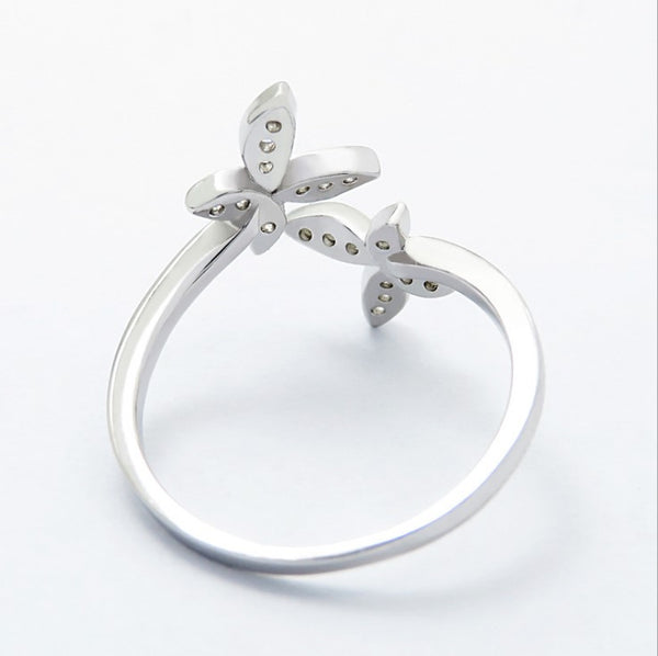 Sterling Silver Adjustable Butterfly Ring