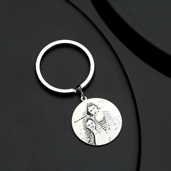 Photo Engraved Tag Key