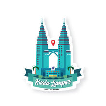 Load image into Gallery viewer, AS02 Petronas Twin Towers Day View