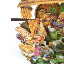 Load image into Gallery viewer, 360° 3D Greetings Card: The Taste of Malaysia TP02