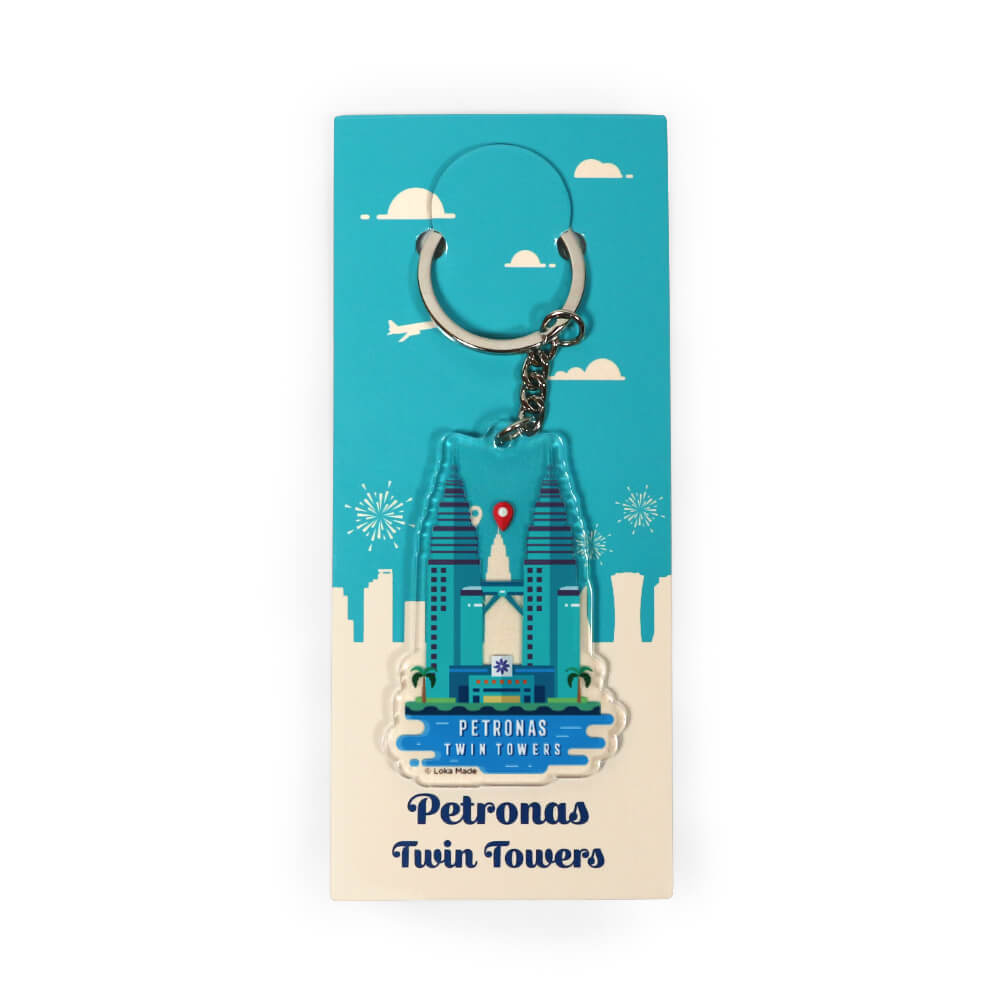 Acrylic Keychain: KC22 Petronas Twin Towers