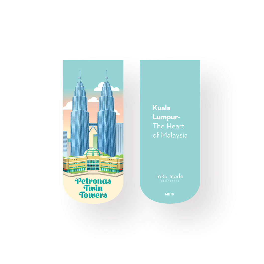 Magnet Bookmark: Petronas Twin Towers Day View