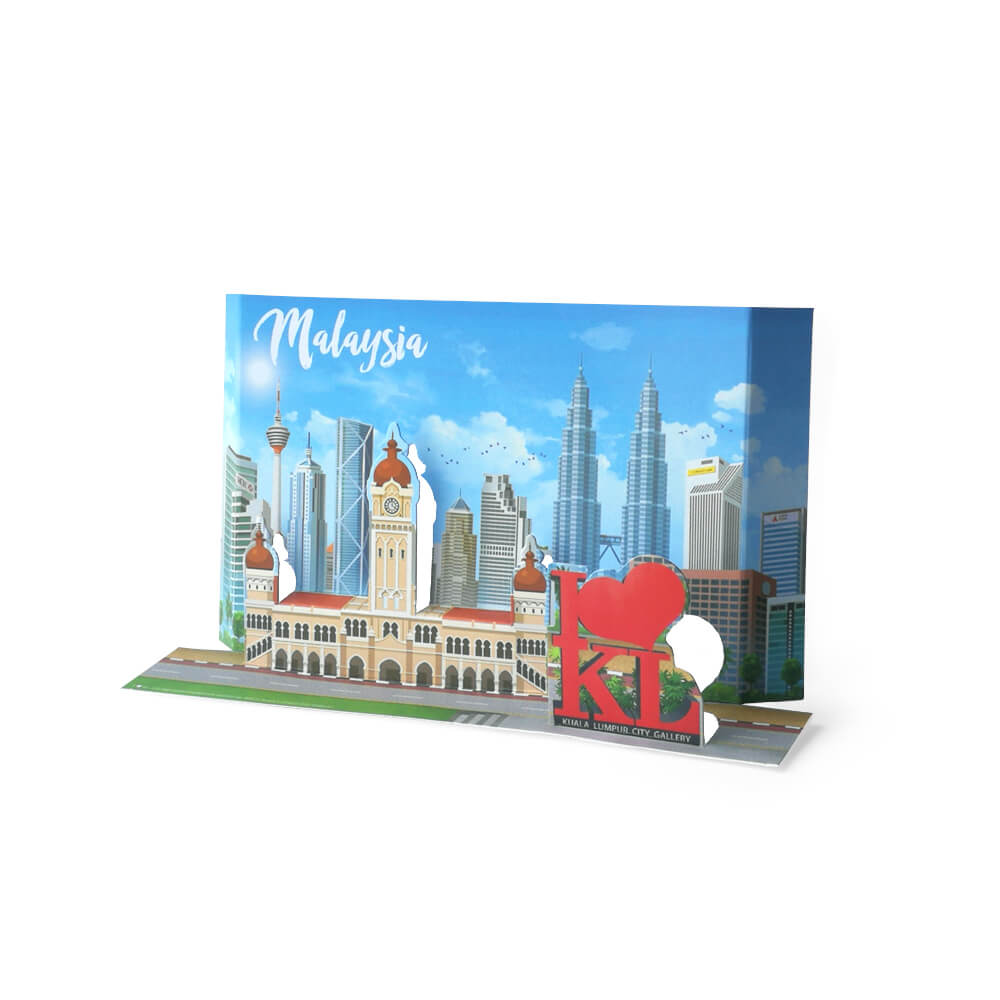 Malaysia Pop Up Postcard: I LOVE KL