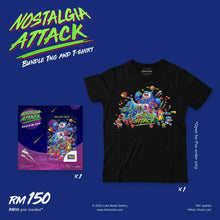 Load image into Gallery viewer, Customisable T-shirt Nostalgia Attack (Artwork back)