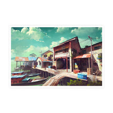 Load image into Gallery viewer, The Beauty of Fishing Village Postcard