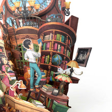 Load image into Gallery viewer, 360° 3D Greetings Card: Peaceful Hours in the Study