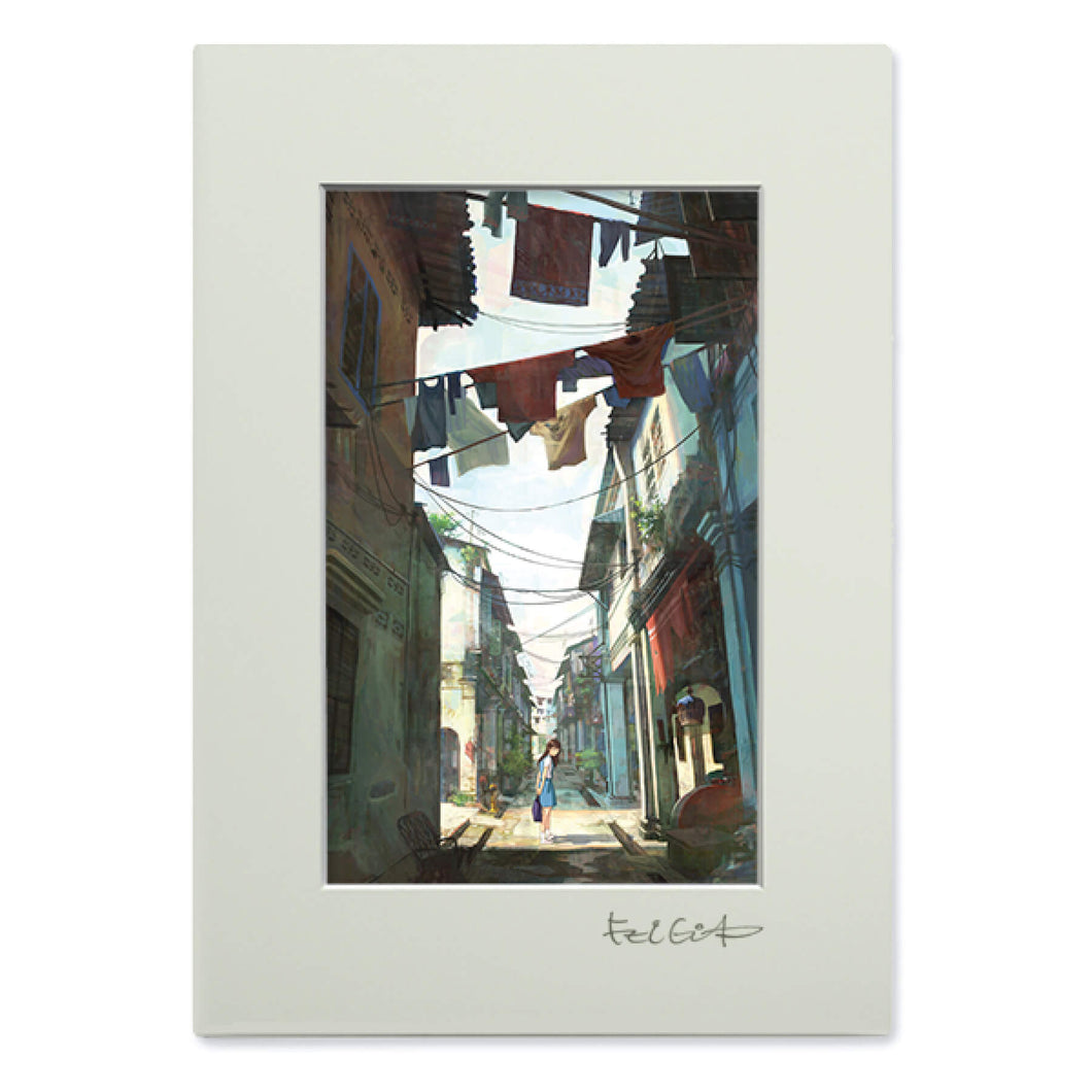 Art Frame: The girl at the back alley