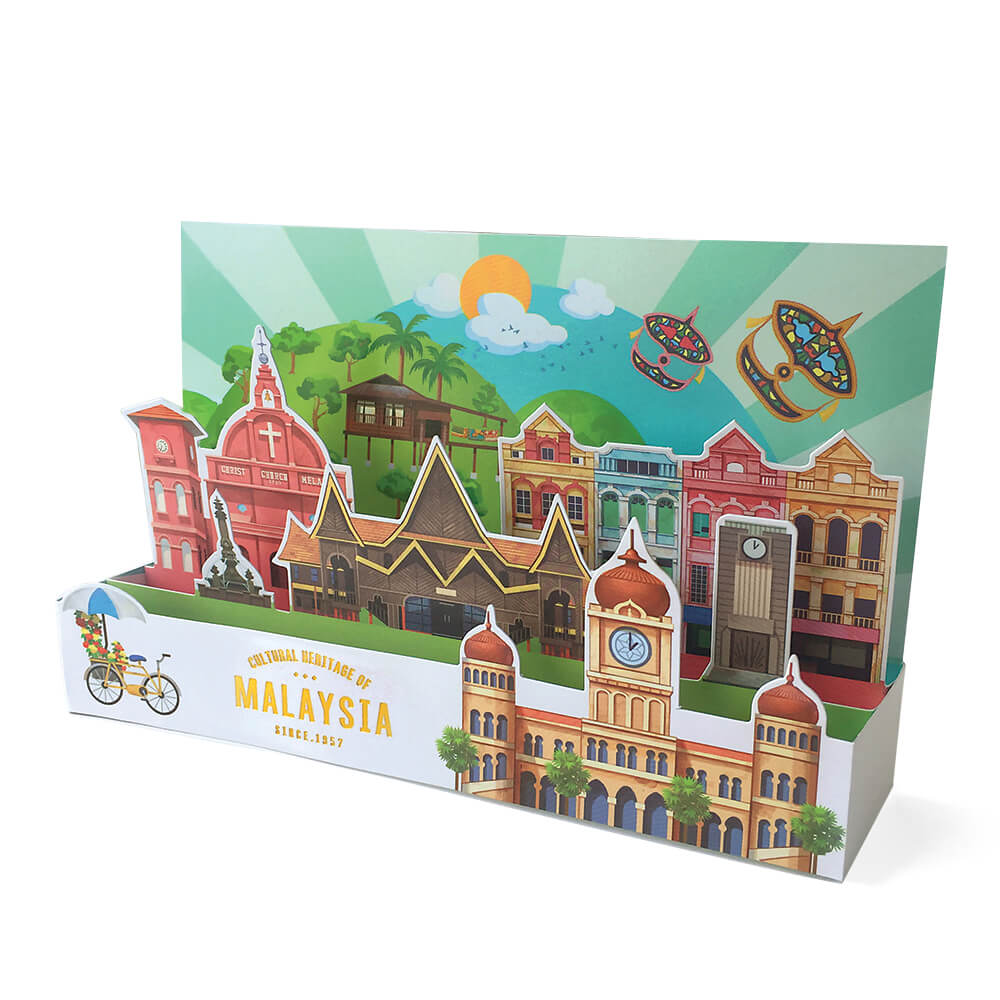 3D Greeting Card: Cultural Heritage of Malaysia GC03