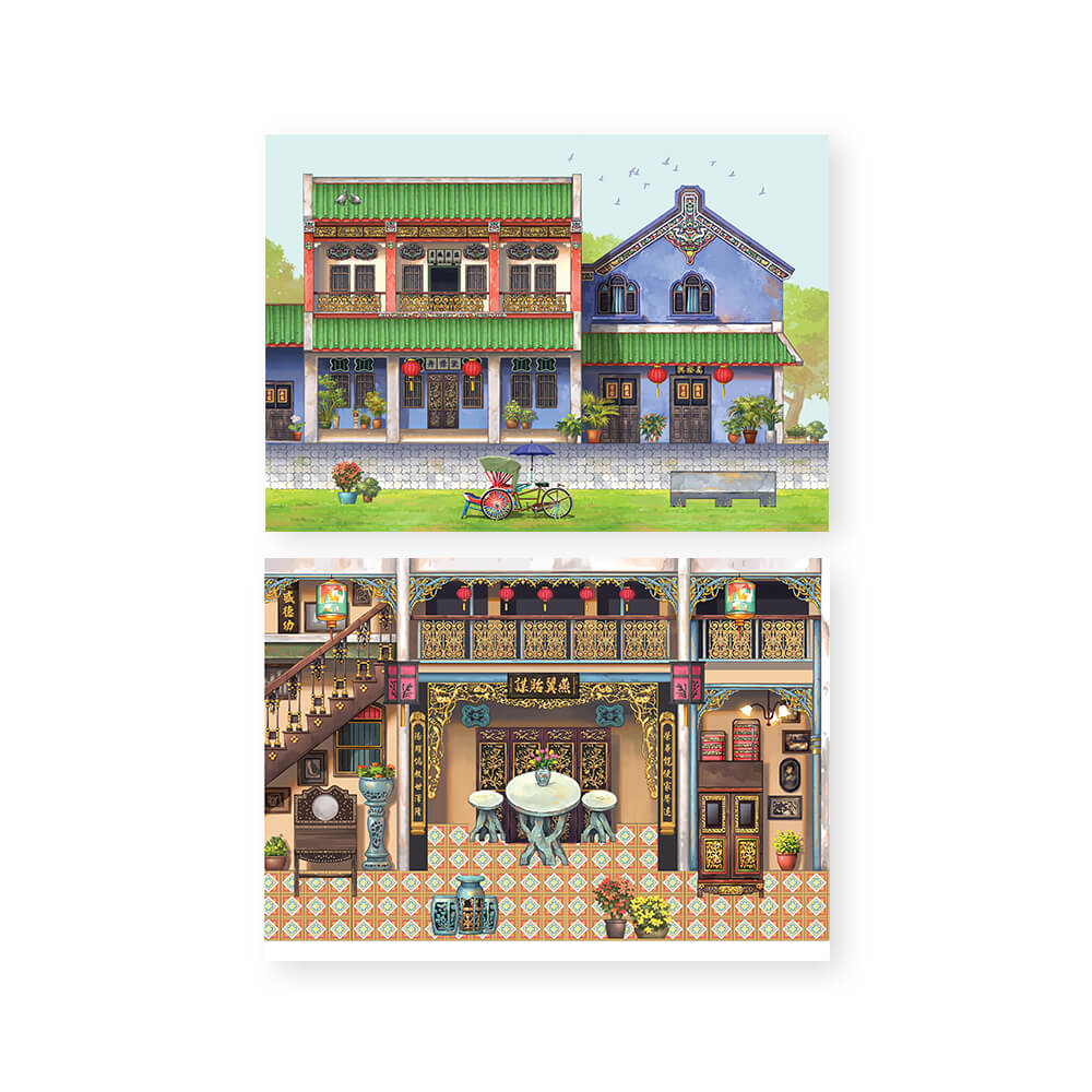 Pop Up Postcard :The Whimsical Architecture PUC03