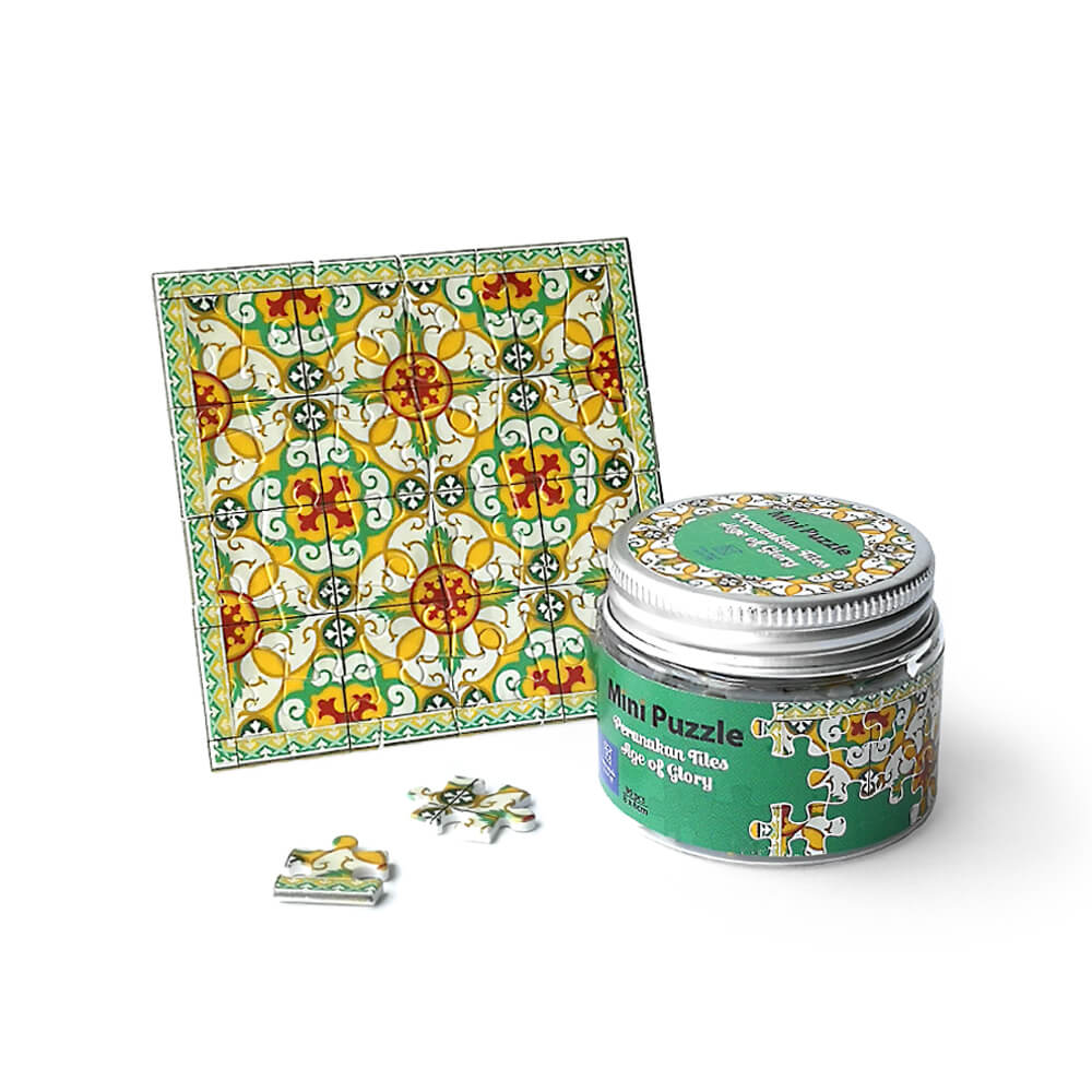 Mini Puzzle Coaster: Peranakan Tiles Age of Glory