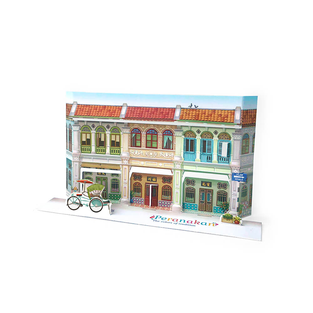 Malaysia Pop Up Postcard: Peranakan The Colors of Tradition