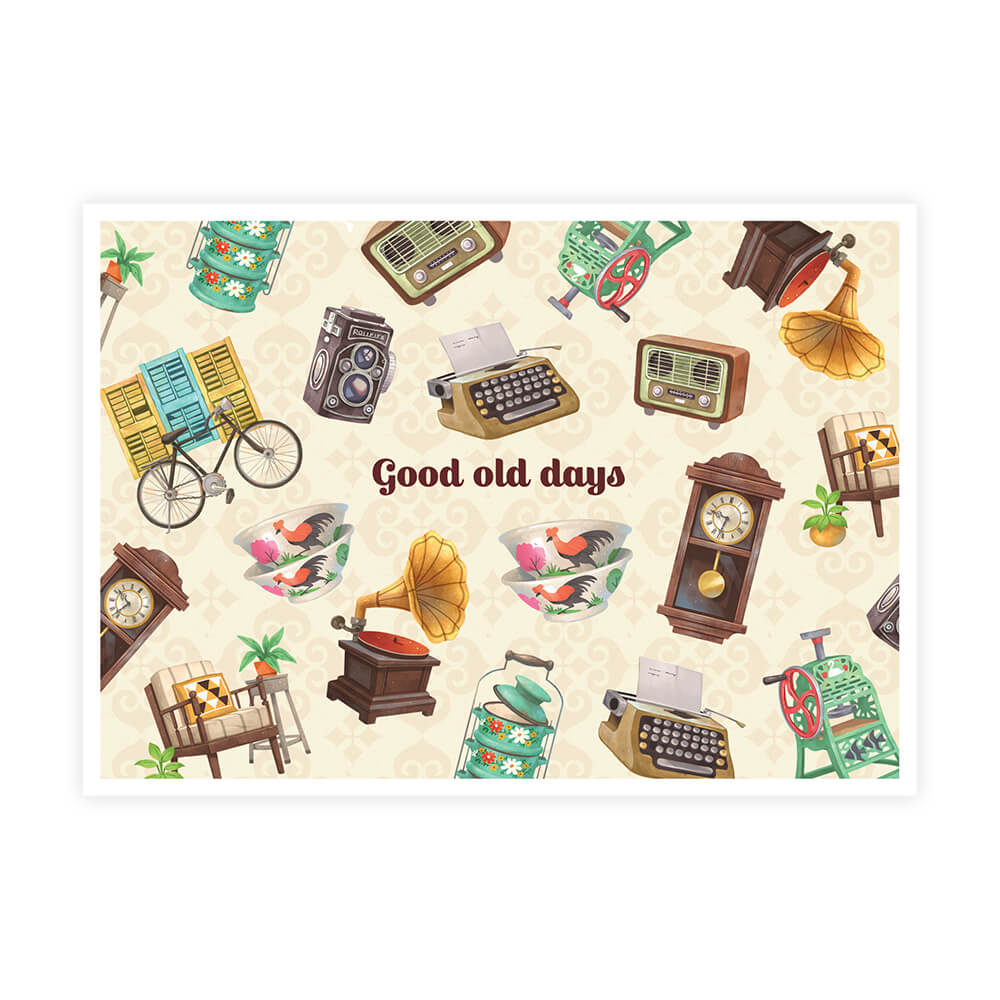 Malaysia Series Postcard: Good Old Days, Inspiring Days MSP55