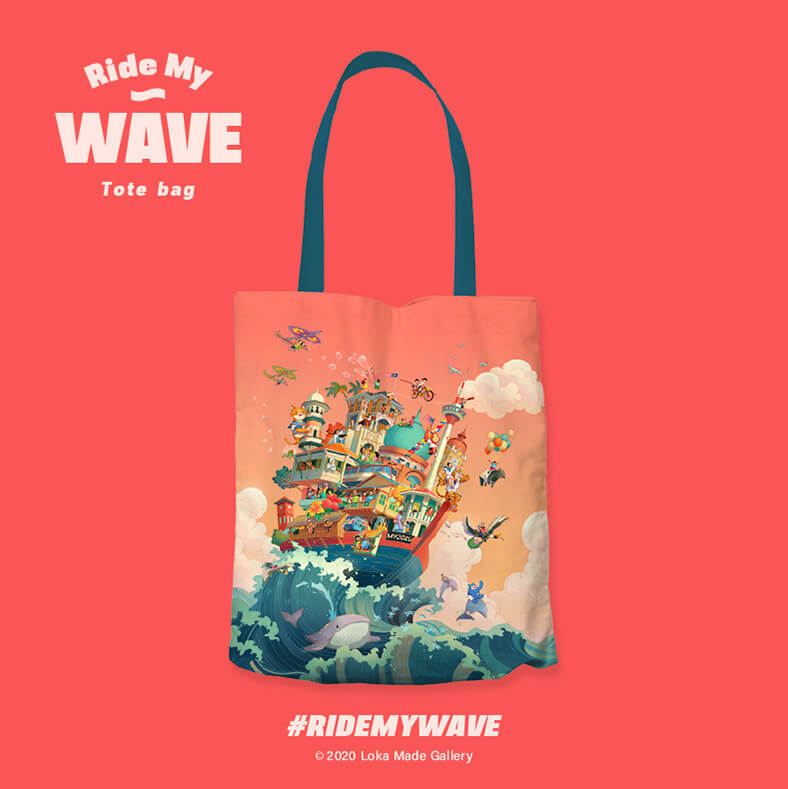 Tote Bag Ride My Wave