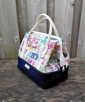 Watercolor Print Knit Night Bag