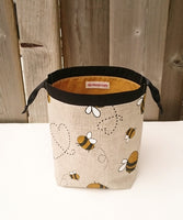 Bumble Bee Print Linen Bag