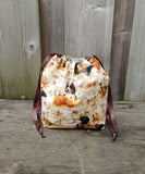 Puppies and Pumpkins Print  Bag