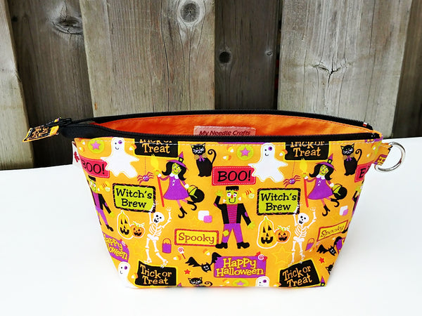 Trick or Treat Notions Pouch, Small wedge style bag