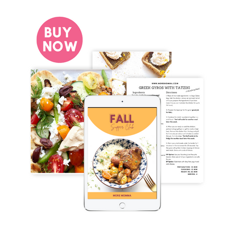 Fall Supper Club Meal Plan