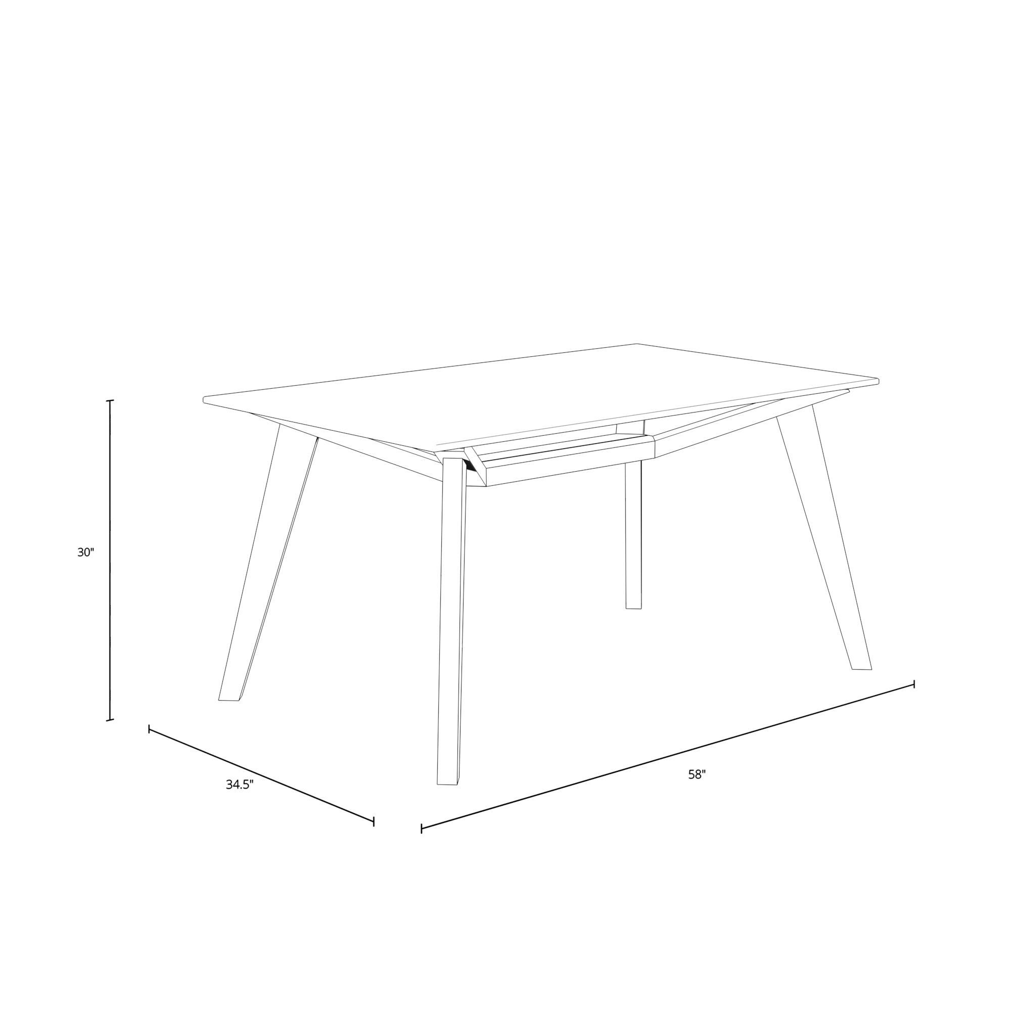 Lavinia Glass Top Dining Table