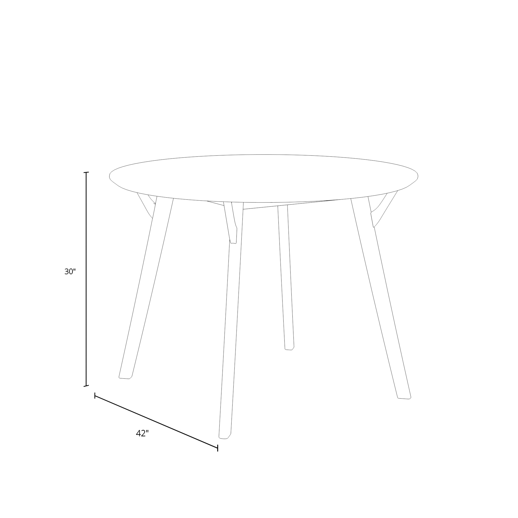 Dante Round Dining Table