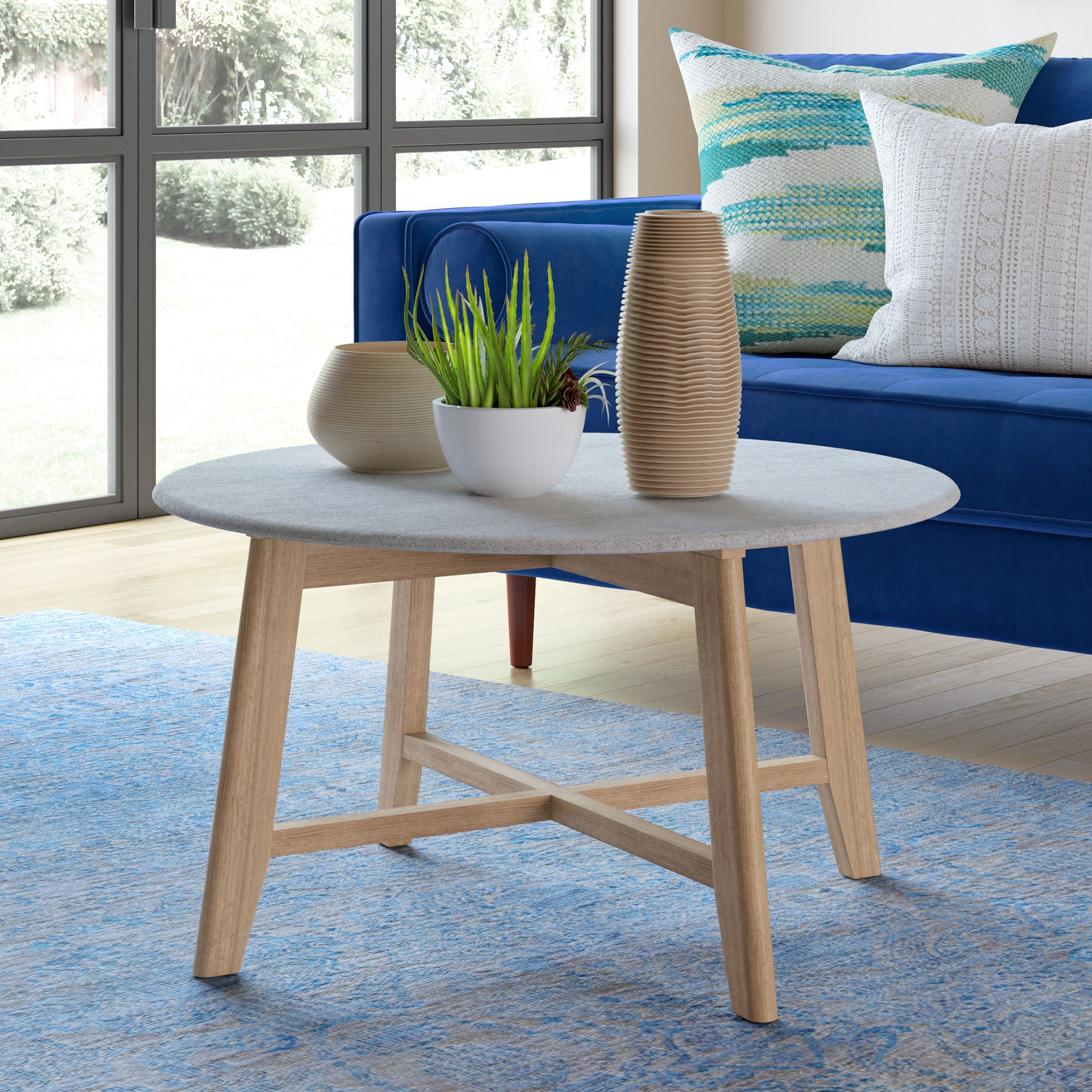 Elysian Faux Cement Coffee Table