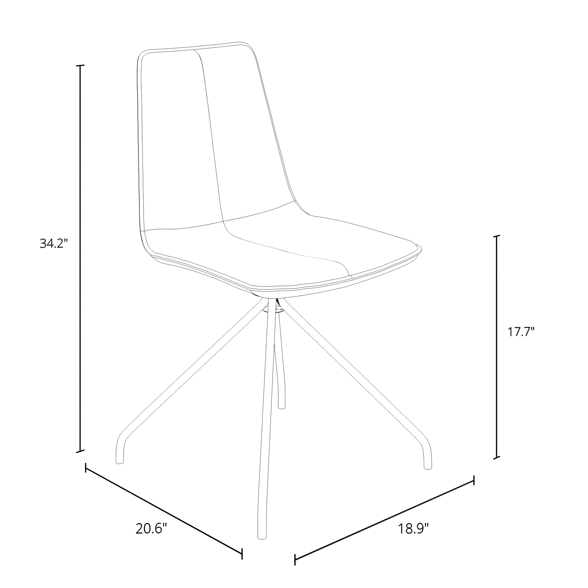 Arco Leatherette Visitor Chair