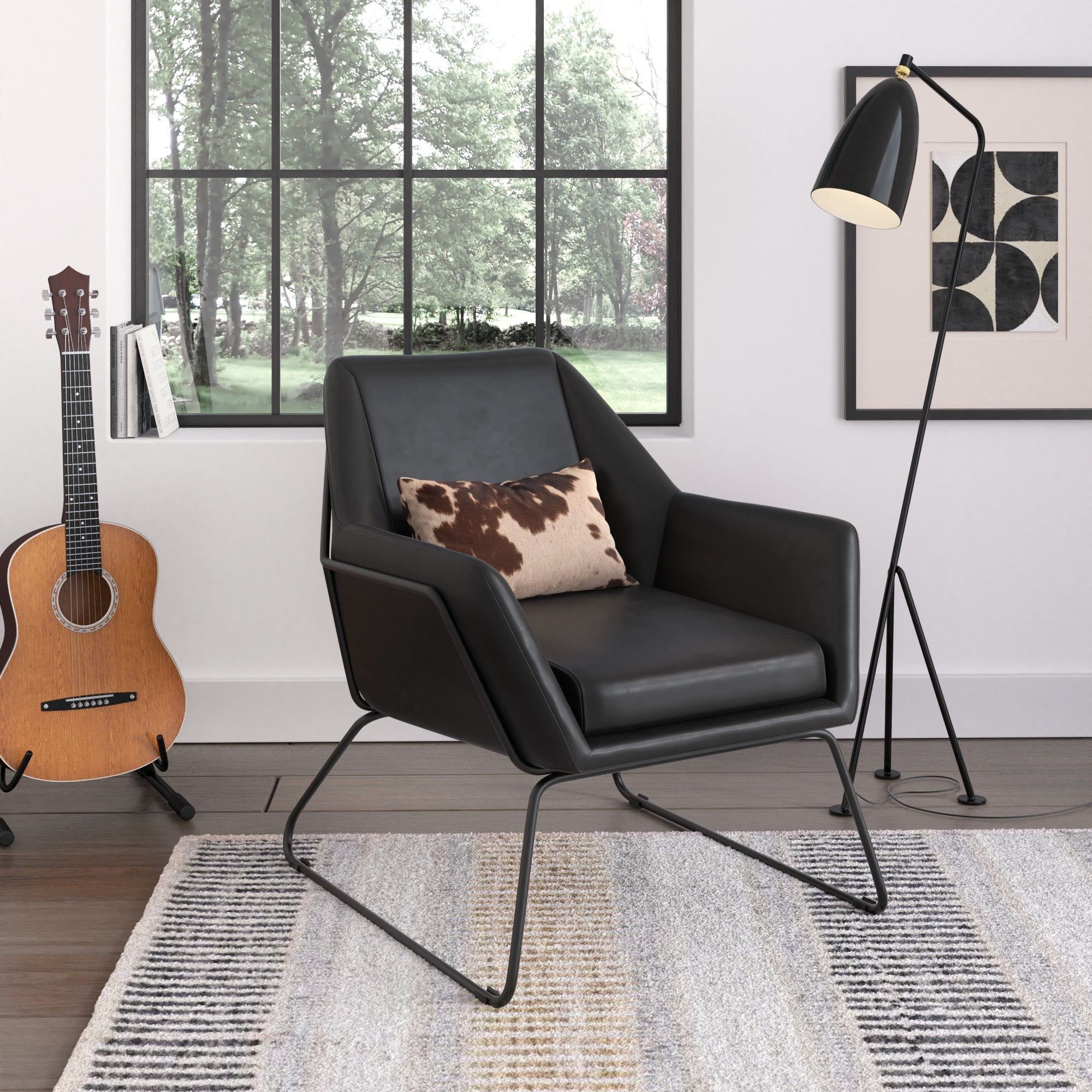 Caine Leatherette Lounge Chair