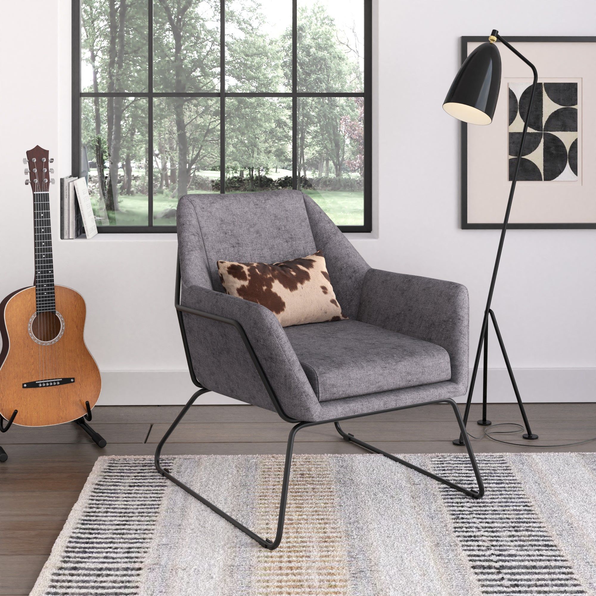 Caine Fabric Lounge Chair