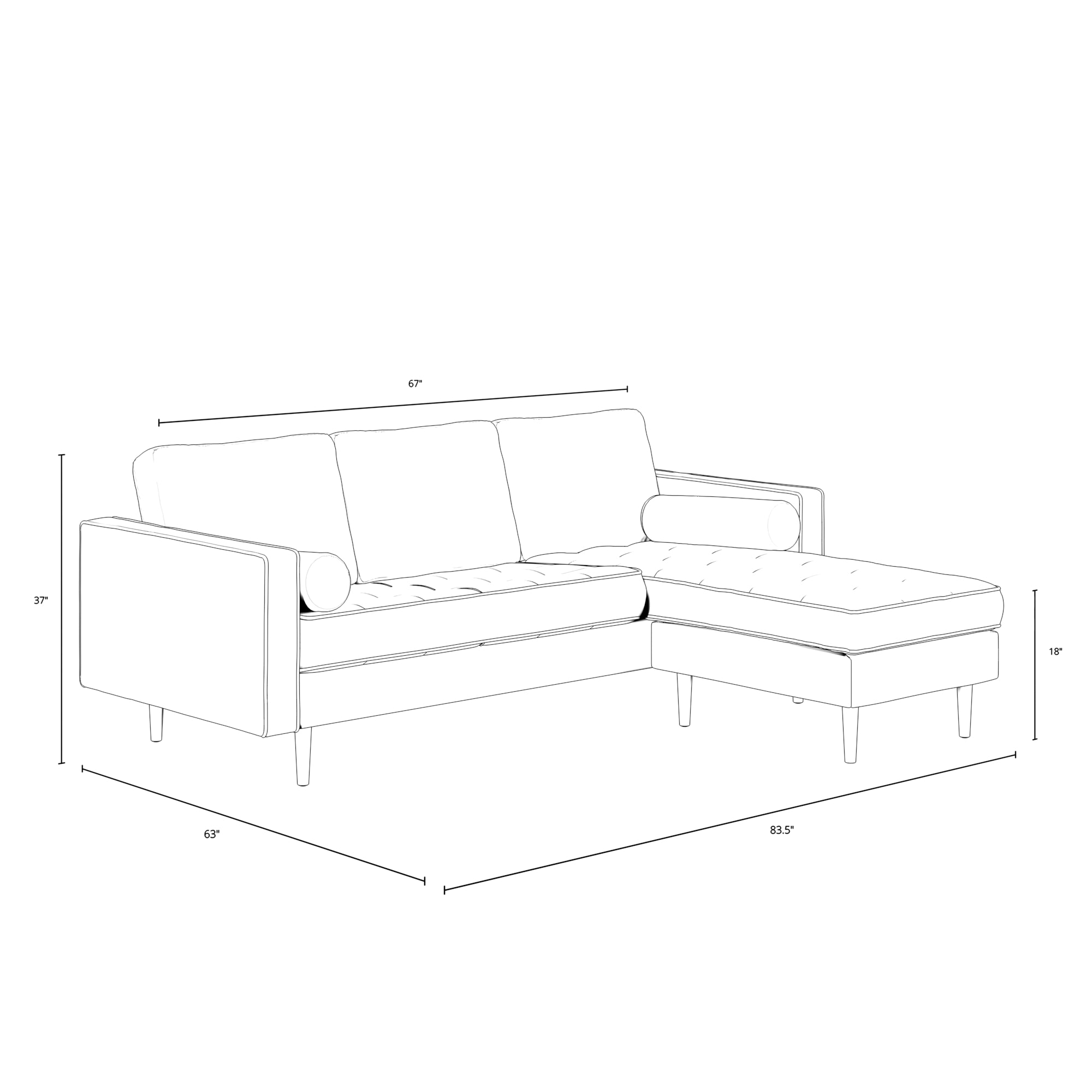 Bloomfield Reversible Fabric Sectional