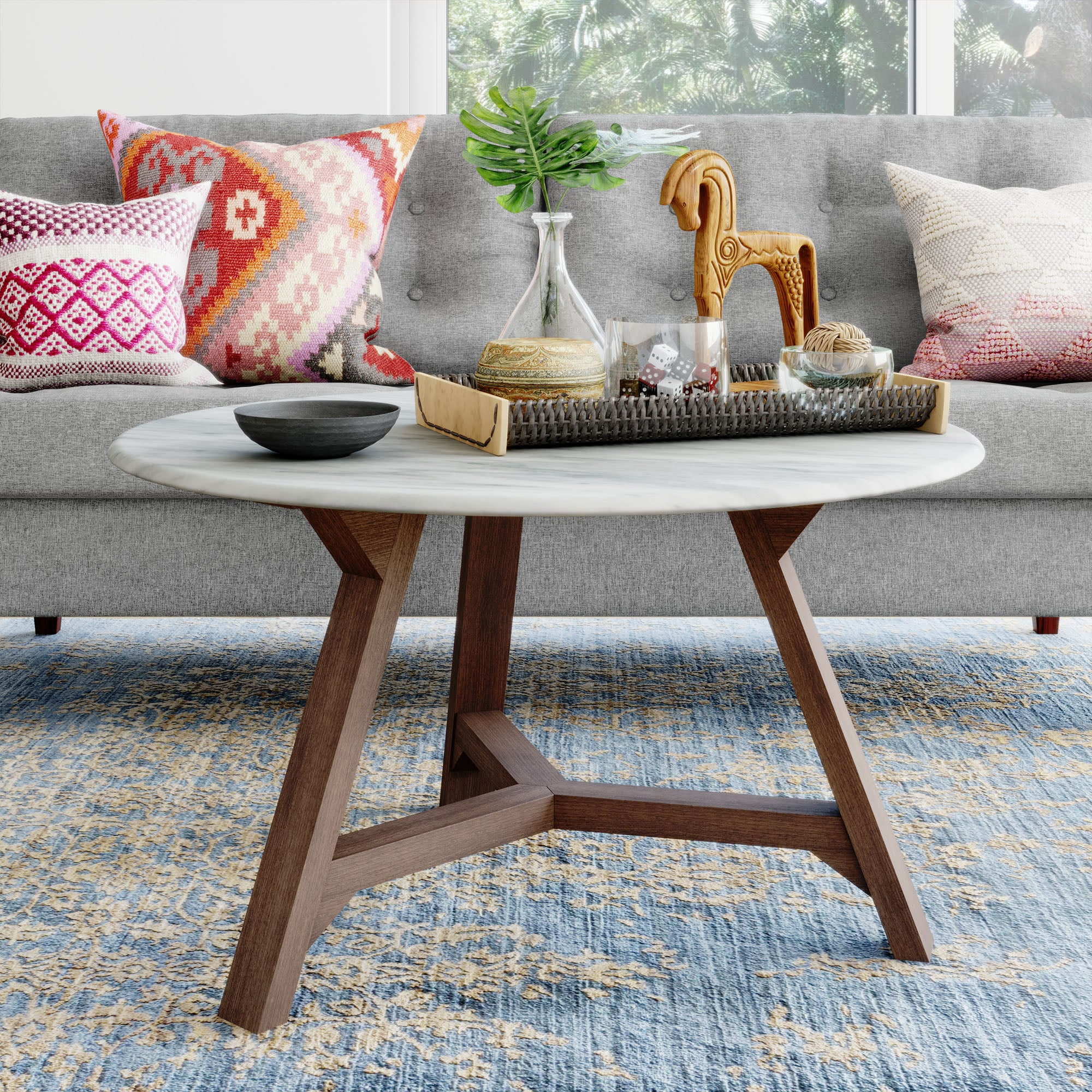 Aubrey Faux Marble Coffee Table